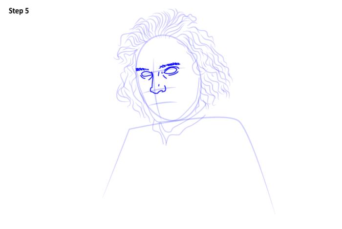 Как нарисовать Джона Сноу