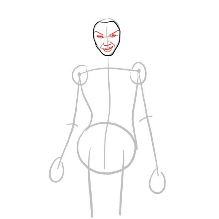Как просто нарисовать Гамору из фильма 3