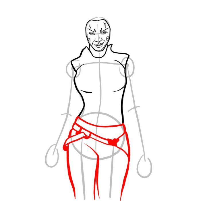 Как просто нарисовать Гамору из фильма 7