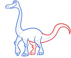 """Рисуем Арло из """"Хороший динозавр"""""""