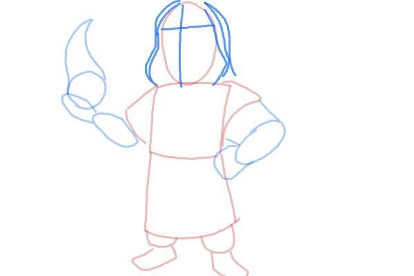 как нарисовать поэтапно колдуна 4