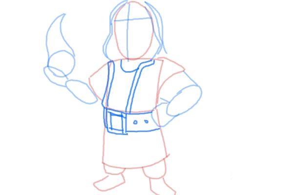 как нарисовать поэтапно колдуна 5