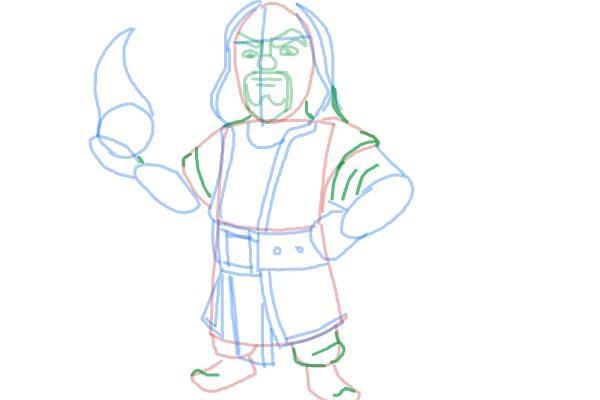 как нарисовать поэтапно колдуна 8