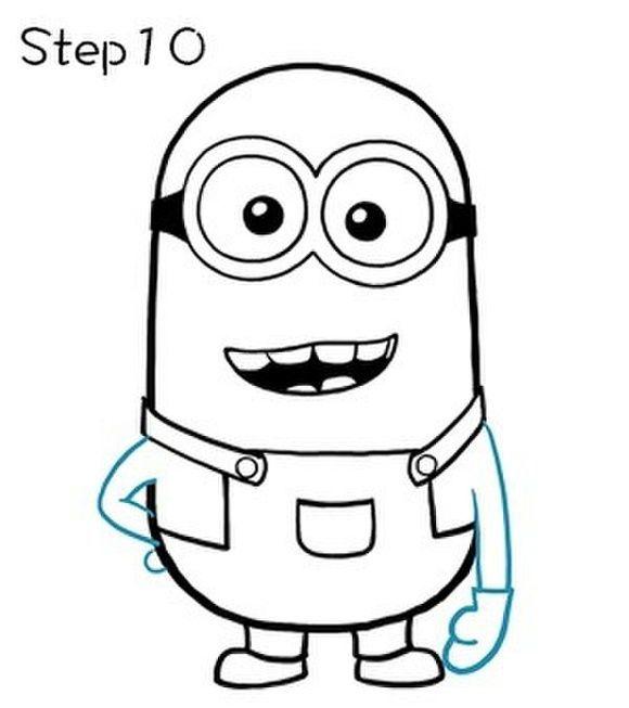Миньон как нарисовать