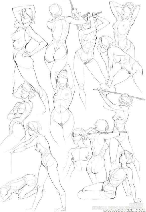 Рисуем женское тело