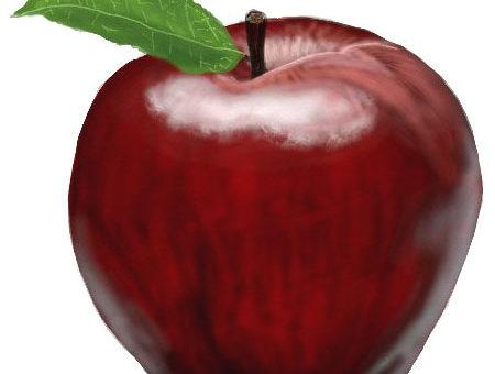 Яблоко как нарисовать