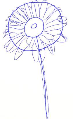 ромашка урок рисования