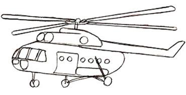 Рисуем вертолет
