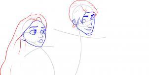 Флин и Рапунцель как нарисовать