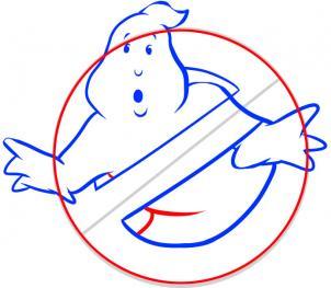 Охотники за привидениями значок рисовать