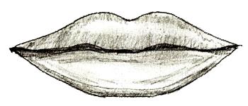 как нарисовать губы