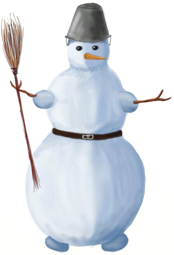Как поэтапно нарисовать снеговика