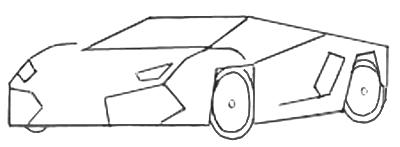 Рисуем спортивную машину