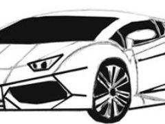 Рисуем спортивный автомобиль