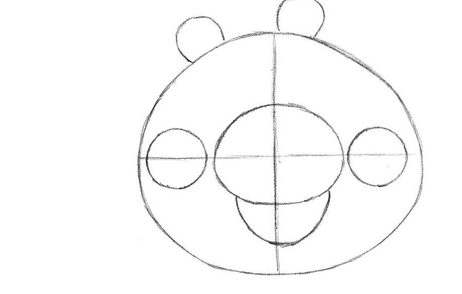 Как нарисовать свинью из игры Angry Birds