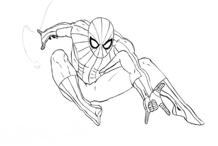 Рисуем Человека Паука