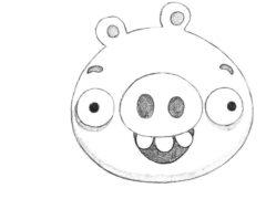 Рисуем свинью из Angry Birds