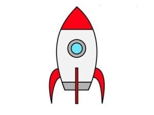 Как нарисовать ракету