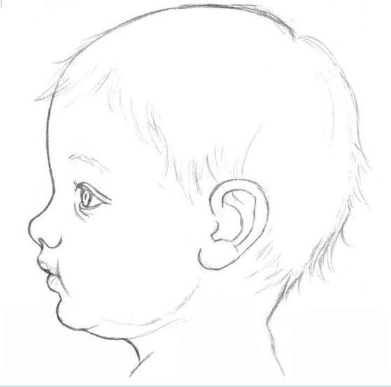 рисуем лицо ребенка