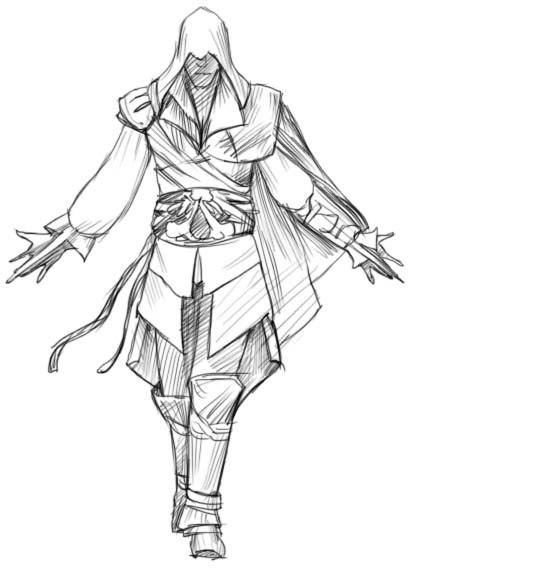 Как нарисовать Эцио из Assassin's Creed