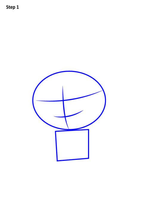 Как просто нарисовать Наруто 1