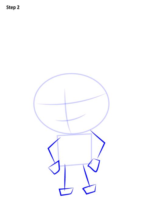 Как просто нарисовать Наруто2