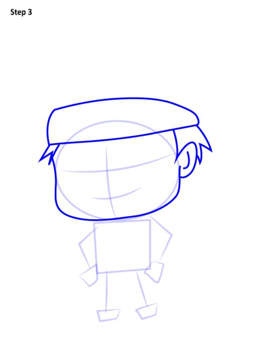 Как просто нарисовать Наруто3