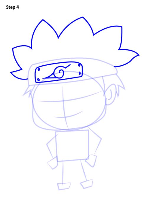 Как просто нарисовать Наруто4