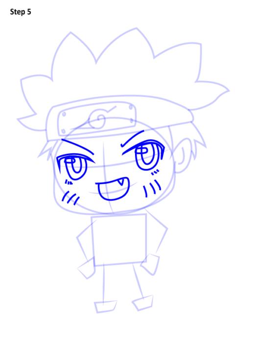 Как просто нарисовать Наруто5