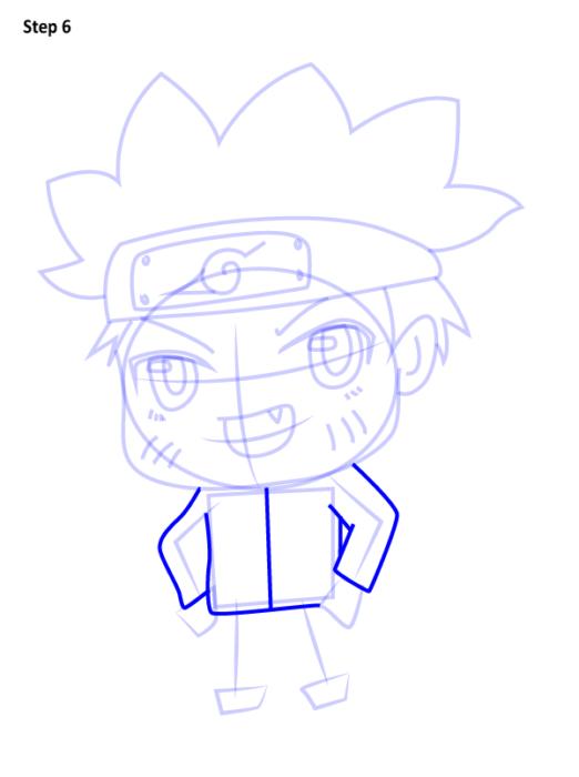 Как просто нарисовать Наруто6