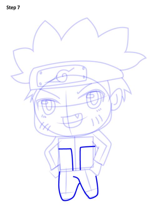Как просто нарисовать Наруто7