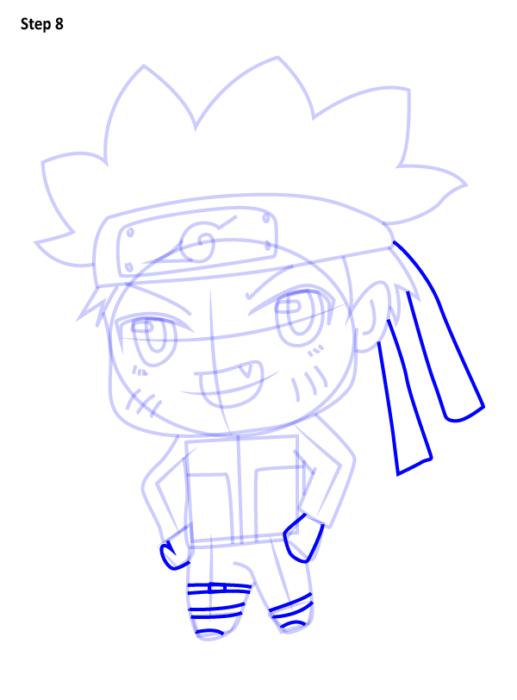Как просто нарисовать Наруто8