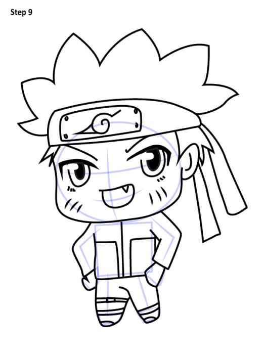 Как просто нарисовать Наруто9