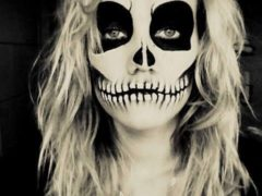 Видео. Страшный грим на Хэллоуин