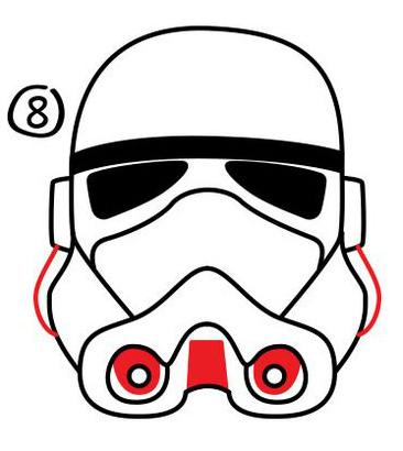 Как нарисовать шлем клона пехотинца из Звездный войн