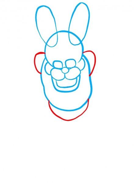 Как нарисовать Бонни