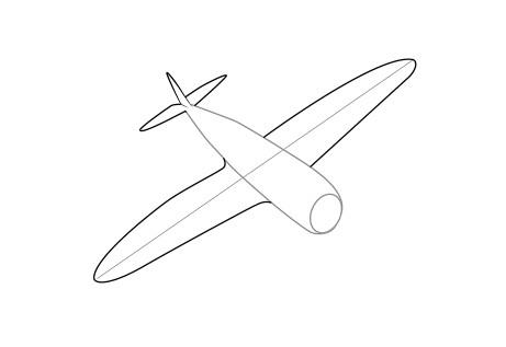 Как нарисовать самолет