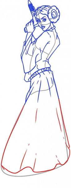 Как нарисовать Лею Органу