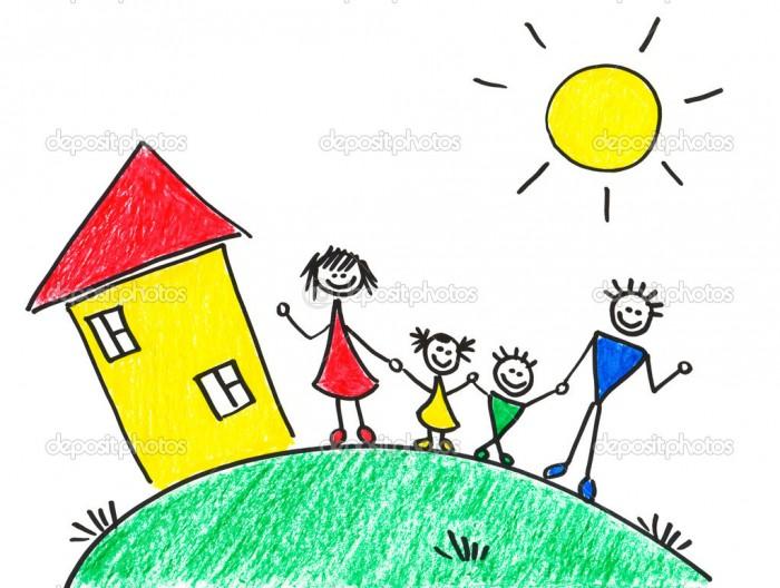 Детский рисунок дом