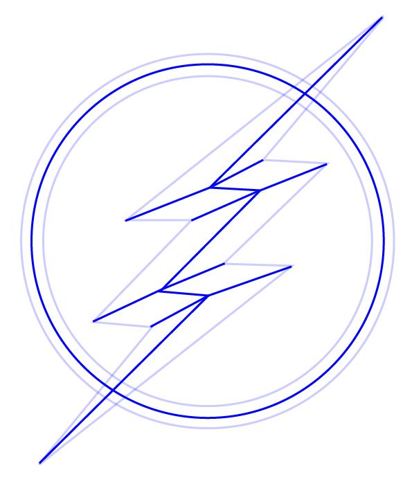 Как нарисовать значок Флеша