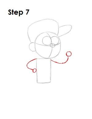 Как нарисовать Диппера