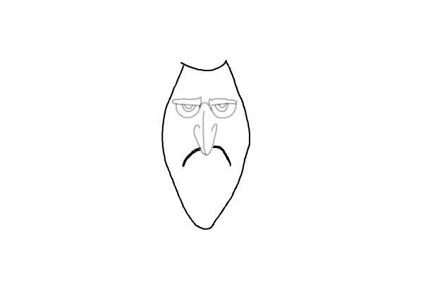 как нарисовать Дракулу из мультика 4