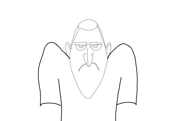 как нарисовать Дракулу из мультика 6