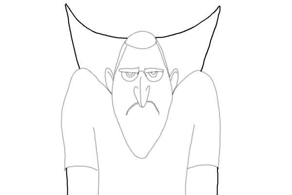 как нарисовать Дракулу из мультика 7