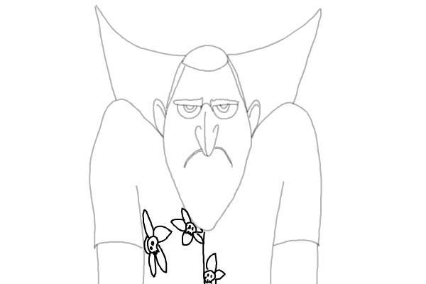 как нарисовать Дракулу из мультика 8