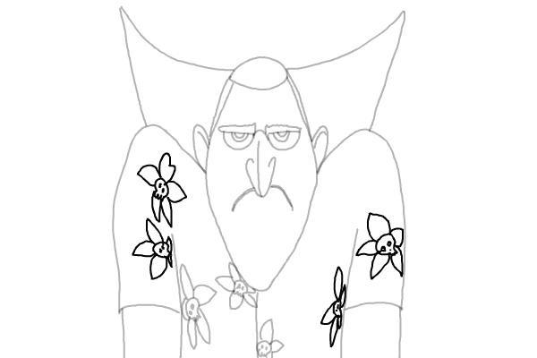 как нарисовать Дракулу из мультика 9