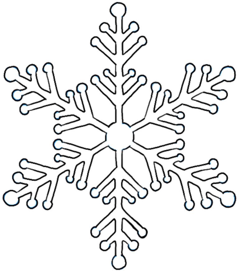 картинки снежинки карандашом неды