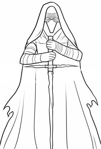Как нарисовать Кайло Рена из Звездных войн