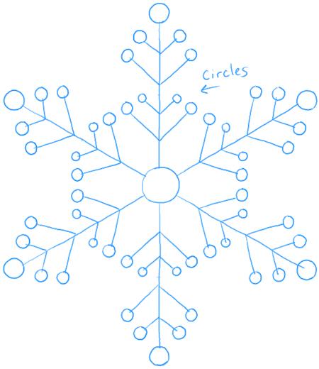 Как нарисовать снежинку
