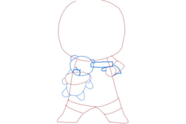 Как нарисовать чиби Дедпула